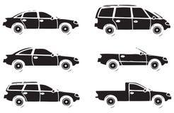 Différentes voitures Photo libre de droits