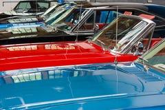 Différentes voitures de capots Photographie stock libre de droits