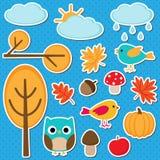 Différents éléments d'automne Photographie stock libre de droits