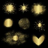 Différents éléments d'or, vecteur Photographie stock