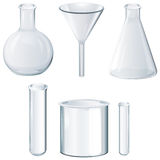 Différents équipements de laboratoire Image stock