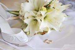 Différents accessoires de mariée image libre de droits
