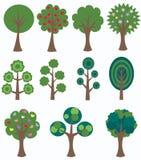 Différents arbres Photo stock