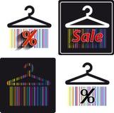 Différents autocollants d'achats Image stock