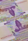 Différents billets de banque de Riel du Cambodge Images stock