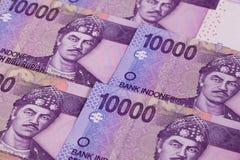 Différents billets de banque de roupie d'Indonésie Images stock