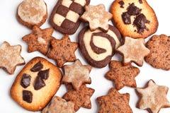 Différents biscuits de Noël Photo libre de droits