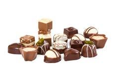 Différents bonbons au chocolat image libre de droits