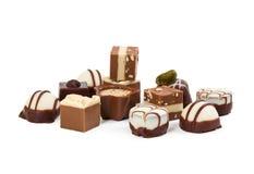 Différents bonbons au chocolat photo libre de droits
