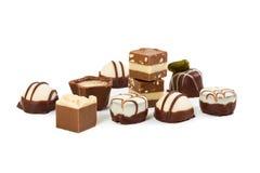 Différents bonbons au chocolat photographie stock libre de droits