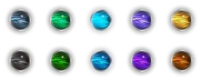 Différents boule-boutons dans 3d Photos libres de droits