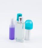 Différents bouteilles et destinataires Images stock