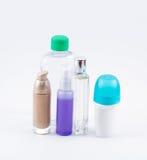 Différents bouteilles et destinataires Photographie stock libre de droits