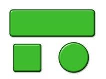 Différents boutons de forme Photographie stock libre de droits