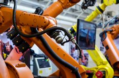 Différents bras de robot industriel image libre de droits