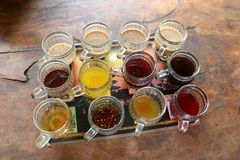 Différents cafés et thés - Bali Indonésie Asie image libre de droits