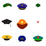 Différents chapeaux de vecteur de vecteur de chapeaux illustration de vecteur