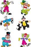 Différents clowns Images stock