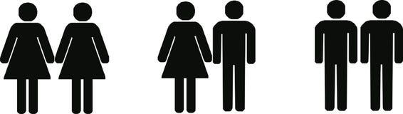 Différents couples Images libres de droits