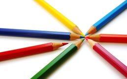 Différents crayons de couleur Photo libre de droits