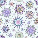 Différents flocons de neige colorés Photos stock