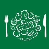 Différents fruits et légumes -3 Image stock