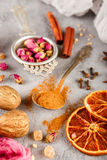 Différents genres d'épices Photos stock