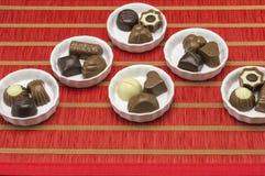 Différents genres de chocolats Image stock