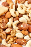 Différents genres de noix Photos stock