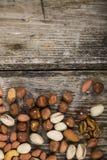 Différents genres de noix Image libre de droits