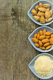Différents genres de noix d'amande Photos libres de droits