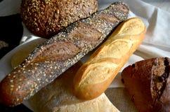 Différents genres de pain Images libres de droits