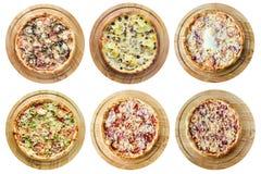 Différents genres de pizza Images libres de droits