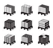 Différents genres de tuiles de trottoir illustration stock