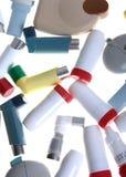 différents inhalateurs Photos stock