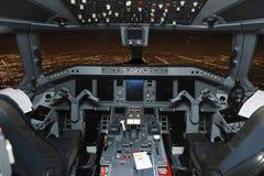 Différents instruments de mesure localisant en vol la plate-forme Image libre de droits