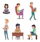 Différents instruments pour la lecture Livres de lecture de caractères illustration libre de droits