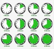 Différents intervalles de minutes illustration libre de droits