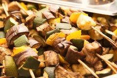 Différents légumes grillés, plan rapproché Images libres de droits