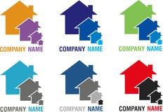 Différents logos à la maison photographie stock