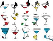 différents martinies d'images Photographie stock libre de droits