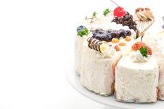 Différents morceaux de gâteau Image libre de droits