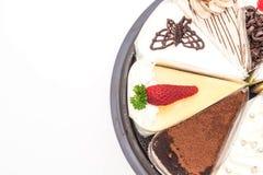 Différents morceaux de gâteau Photo libre de droits