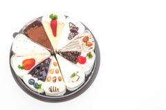 Différents morceaux de gâteau Photographie stock libre de droits
