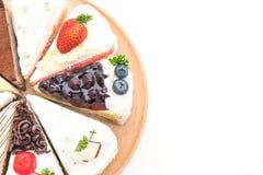 Différents morceaux de gâteau Photos libres de droits
