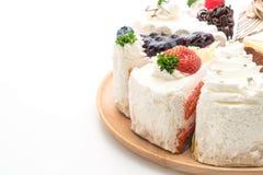 Différents morceaux de gâteau Images stock