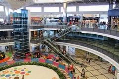 Différents niveaux d'aéroport international d'Antalya - juillet 2017 Image stock