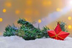 Différents ornements de Noël Photographie stock