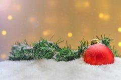 Différents ornements de Noël Images libres de droits