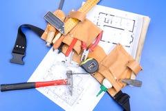 Différents outils de charpentier Photo libre de droits